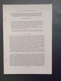 MONTE CARLO METHODOLOGY AND THE FINITE SAMPLE PROPERTIES OF INSTRUMENTAL VARIABLES STATISTICS FOR TESTING NESTED AND NON-NESTED HYPOTHESES, Econometrica, Vol.59, No.5(September,1991),1249-1277