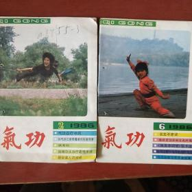 《气功》1986年 2.6册 2册合售 浙江中医杂志社 私藏 书品如图