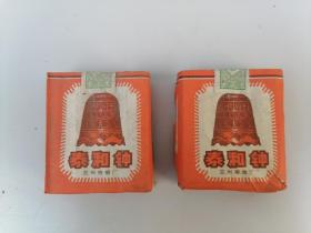 烟标。六七十年代,兰州泰和钟两盒