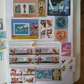外国体育邮票样品(成交送精美纪念张一枚)