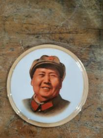 文革 毛主席像章 略有磕损。直径约10厘米。
