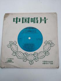小薄膜唱片:天山青松根连根,春光万里红旗扬,哈尼人民热爱毛主席,歌声飞出心窝窝