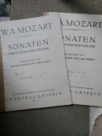 莫扎特十九首奏鸣曲 1--19首两册全 WAMOZART SONATEN(德文版)