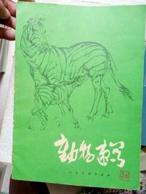 79年印袁熙坤作(动物速写)16开16页