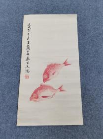 广东老画家,王兰若作品。作于1982年,品相不错。尺寸56/30公分,纸本。