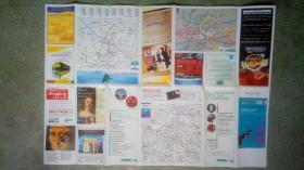 旧地图-巴黎地图法文版(2001年)4开85品