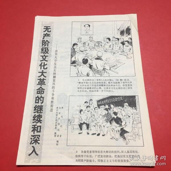 剪报,《无产阶级文化大革命的继续和深入----清华大学反击右倾翻案风的斗争胜利前进》