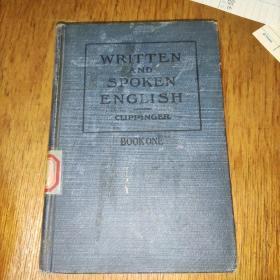 WRITTEN AND SPOKEN ENGLISH(英语书写和回话)精装32开 馆藏实物图
