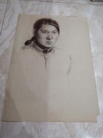 老旧西画 铅笔画001《人物一》 55*40公分 素描或速写,请自鉴!!!