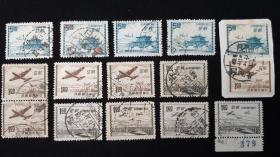 航12 台北版航空邮票 信销旧票3全   无薄裂 信销上品(单套价)