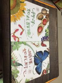 """种子,如此酣睡。蝴蝶如此美丽。卵,如此安宁:""""美丽成长""""科普绘本系列。三本合售"""