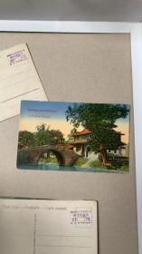 民国早期上海嘉定 孔庙风光建筑明信片