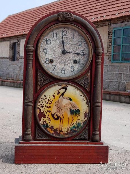 宝牌 商标 烟台钟表厂 座钟 山东烟台钟表厂 老座钟 老钟 早期 北极星 之前