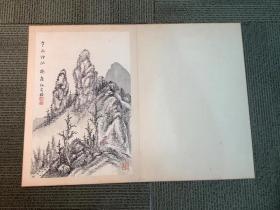 清末日本山本梅屋绢本手绘山水画散页一开,品相好,散页尺寸32.5/22.5公分。