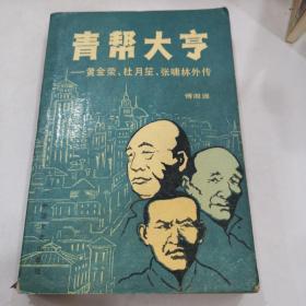 青帮大亨-黄金荣,杜月笙,张啸林外传