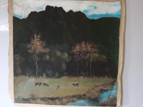 八九十年代的油画一幅--023