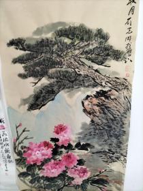 临沂知名画家刘光明四尺整张牡丹1幅〈未装裱,