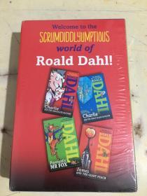 Roald Dahl Gift 罗尔德·达尔小说精选礼盒装《查理和巧克力工厂》《查理和大升降机》《爱幻想的狐狸先生》《姆斯和仙桃》