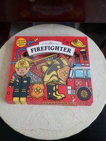 Let's Pretend Firefighter Set (带拼图配件)封面下轻微破损!~