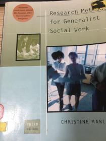 Research methods for generalist social work 第三版 馆藏书