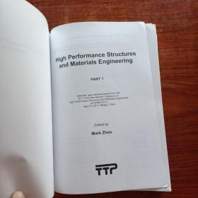 High performance structures and Materials Engineering(prat 1)