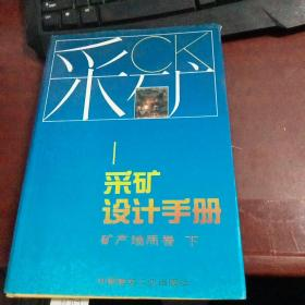 采矿设计手册(矿产地质卷下)精装本H717