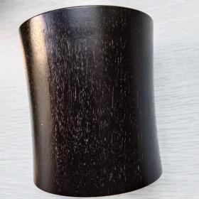 老笔筒,高密度毛牛纹紫檀笔筒!份量重尺寸10Ⅹ11Ⅹ1.5Cm!售出不退货!