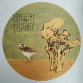 吴益贵老师,50cm* 50cm圆卡