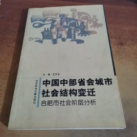 中国中部省会城市社会结构变迁:合肥市社会阶层分析.........