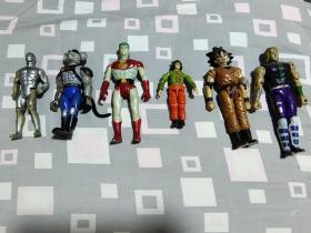 八十年代动漫老玩具一组