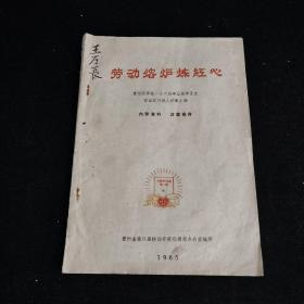 劳动熔炉炼红心-贵阳医学院1964年应届毕业生劳动实习好人好事点滴  16开精美油印本
