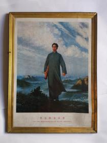 铁皮画  毛主席去安源(68京印铁)包老