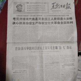 文革报纸《黑龙江日报》两开四版 1968年5月10日 私藏 书品如图