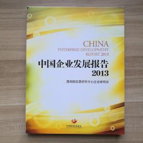中国企业发展报告2013(用事实说话,向历史负责,对未来研判)