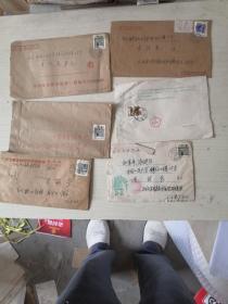 民居邮票实寄封【6个封】