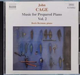 约翰凯奇 John Cage ,music for prepared piano,第二集,原版CD盘面完好