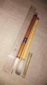 老毛笔;日本鹅毛堂  魁盛堂   共两支