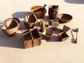 民俗老物件14件,样样精品,保存完正,保浆厚重,博物馆,农民院收藏佳选