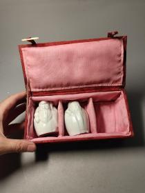 七八十年代,德化瓷厂,福禄寿三星带原包装盒,缺一只