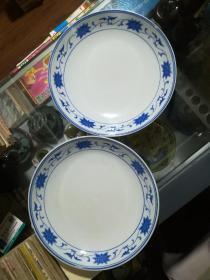 文革瓷红旗瓷厂盘子