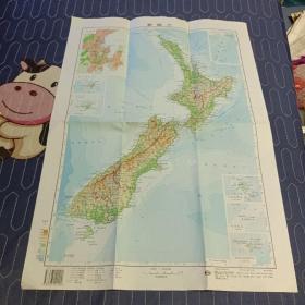 新西兰地图1999年