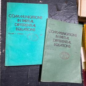 COMMUNICATIONS IN PARTIAL DIFFERENTIAL EQUATIONS