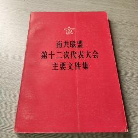 南共联盟第十二次代表大会主要文件集