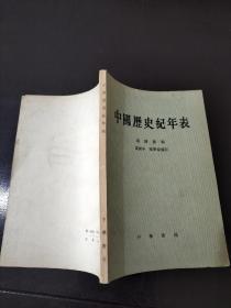 中国历史纪年表