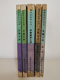 数理化自学丛书:第二版 平面几何(第一次、第二册)平面解析几何 平面三角 立体几何 共5本 杨荣祥 吴家钦 姚剑初 凌康源 编 上海科学技术出版社