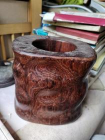 老干部旧藏 花梨木笔斗,重好几公斤。多鬼脸、牛毛纹,可遇不可求。