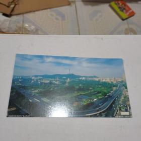2005年中国邮政贺年(有奖)大连全景企业金卡明信片-