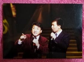 姜昆和李文华说相声 老照片一枚