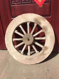 清代 柏木  车轮一个 完整 正常使用