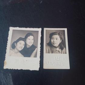 民国老照片两张合售!